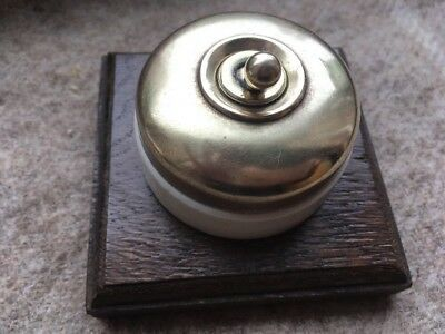 Vintage 2 Way Crabtree Brass Porcelain Light Switches On Wood Ceramic Light Light Switch Jelly Mould