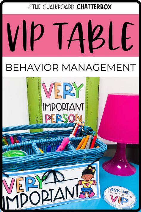 VIP Table Behavior Management Tool