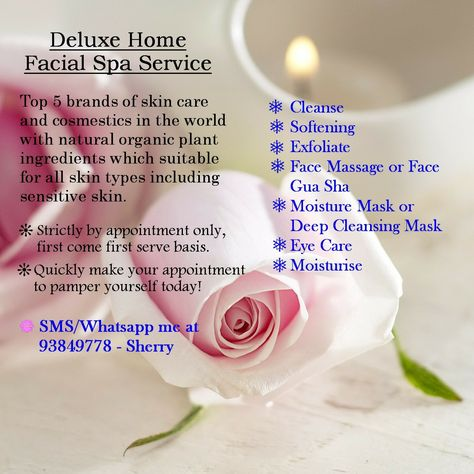 Deluxe Home Facial Spa Service # Save your travel time to ...