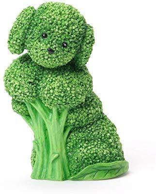 Amazon Com Enesco Home Grown Broccoli Labradoodle Figurine 3 13