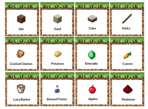 picture about Free Printable Minecraft Food Tents called Record of Pinterest minecraft celebration printables meals consume