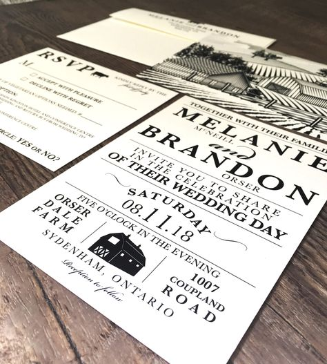 Barn Wedding Invitations