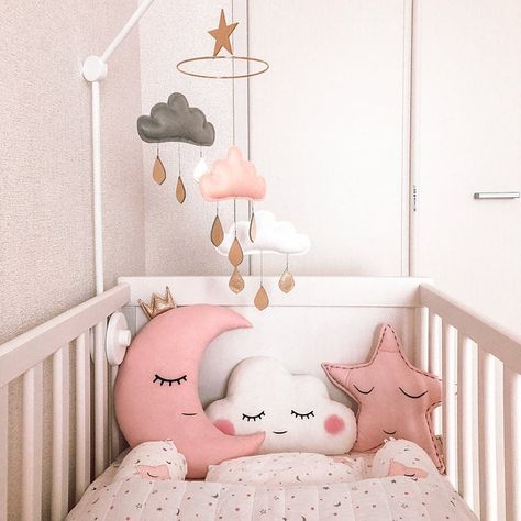Star Moon /& Cloud Nursery Pillow Set