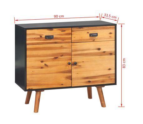 d38a54e1052842 vidaXL Szafka z drewna akacjowego, 90 x 33,5 x 83 cm[7/7]   meble in ...