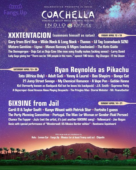 10 Coachella Lineup Poster Parodies We Hope Will Keep On Coming
