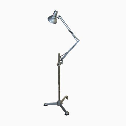 Vintage Anglepoise Floor Lamp With Wheels From Asea 1950s