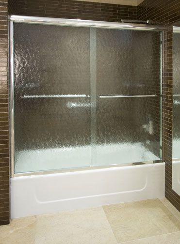 Centec Ct 5 5 Tub Slider In Chrome Finish With 3 8 Bubble Glass Frameless Sliding Shower Doors Shower Doors Sliding Shower Door
