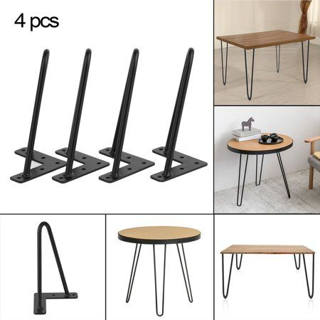 Free Shipping Buy 12 Inch 4 Pcs Heavy Duty Hairpin Table Legs Angled Design Dining Table Laptop Desk Leg Black At Walma Iron Table Desk Furniture Coffee Table