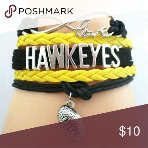 Nwt Hawkeyes infinity bracelet Great gift for that fan Jewelry Bracelets