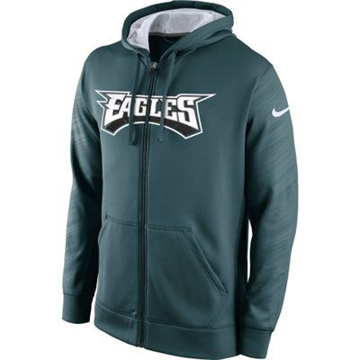 1e2bad75ef6 ... Philadelphia Eagles Nike KO Warp Full Zip Hoodie - Midnight Green Mens  Philadelphia ...