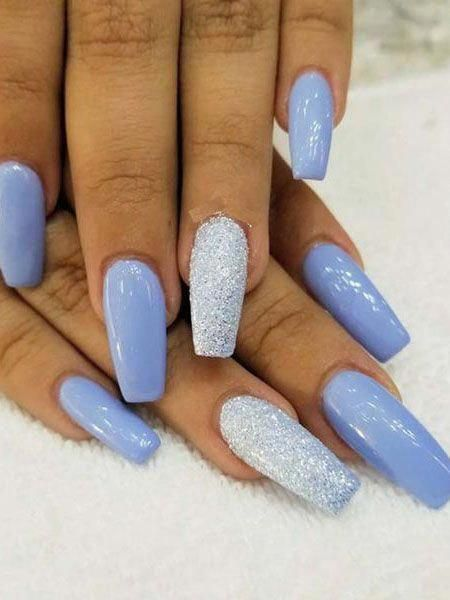 20 Trending Winter Nail Colors & Design Ideas for 2019 - TheTrendSpotter #NailCo... - #colors #design #ideas #nailco #thetrendspotter #trending #winter