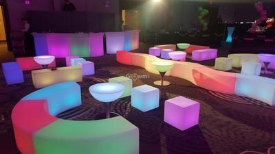Glowmi Summer Rental Package Led Glow Furniture Rental Platinum Package Led Furniture Led Decor Lounge Party