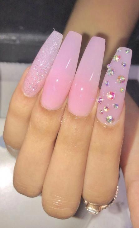Itssjayduhh Birthdaynails Long Acrylic Nails Pink Acrylic Nails Cute Acrylic Nails