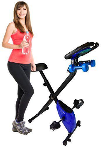 Cheap Kleta Bikes Cross Trainer Folding Magnetic Exercise Bike