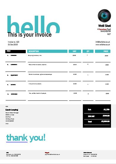 Invoice Like A Pro Design Examples and Best Practices Invoice - free invoice design