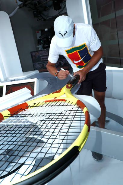 Rafael Nadal 2019 Roland Garros Babolat 2019 Pure Aero Tennis Racquet Specs Rafael Nadal Frases Rafael Nadal Quotes Rafael Nadal Wallpaper Rafael Nadal Gi