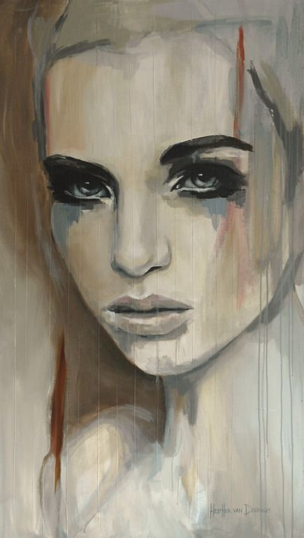 "Saatchi Online Artist: Hesther Van Doornum; Acrylic 2013 Painting ""Gentle - SOLD on Saatchi Online"". 