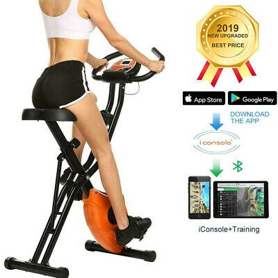 Details About Folding Exercise Bike Cycling Indoor Health Fitness Bicycle Exercising Machine Biking Workout Folding Exercise Bike Exercise