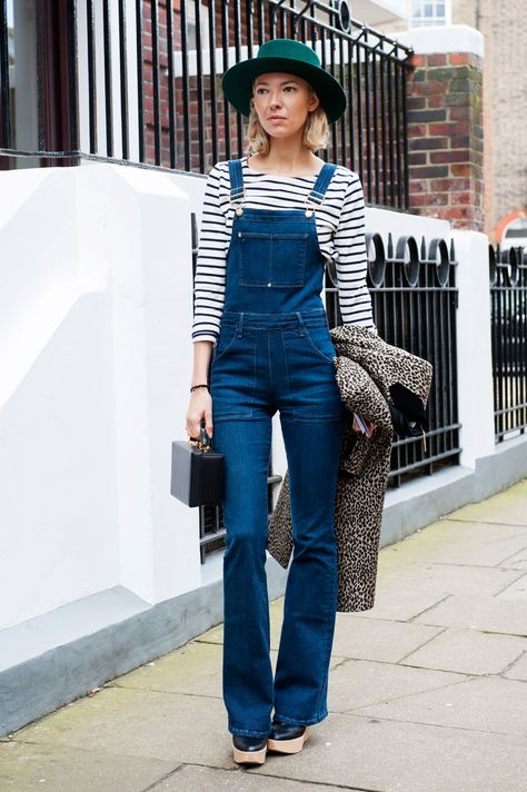 overalls, stripes & a hat. 'nuf said. London.