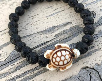 Child's Aromatherapy Diffuser Bracelet Black Lava stones and carved howlite sea  turtle. HerizHouse o… | Unique items products, Diffuser bracelets, Beaded  bracelets