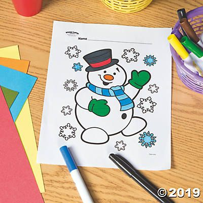 Snowman Free Printable Coloring Page Oriental Trading Snowman Party Printable Christmas Coloring Pages Free Christmas Coloring Pages