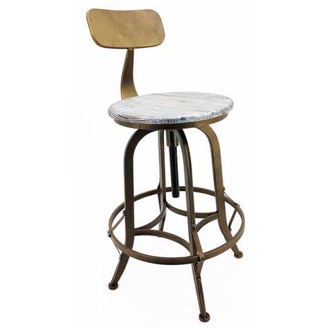 Swell Arthur Adjustable Height Swivel Bar Stool Nyspace Swivel Ncnpc Chair Design For Home Ncnpcorg