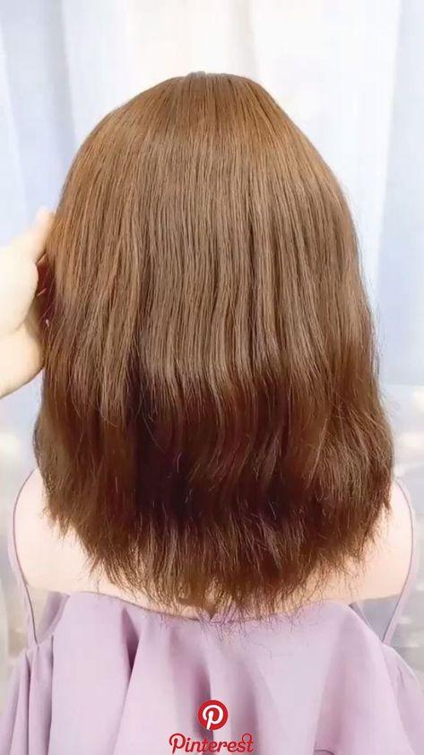 Tie your hair like this.simple and beautiful #styles #coiffure #amour #mode #femmes Tie your hair like this.simple and beautiful Coiffure updo facile et élégante pour les événements officiels
