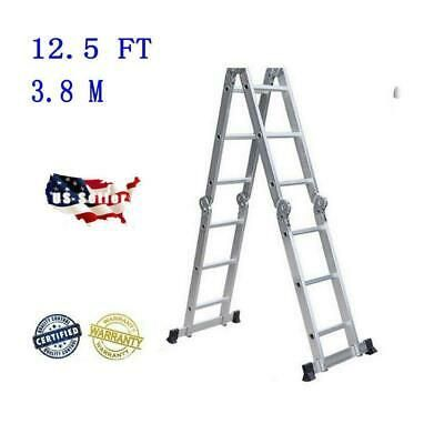 Ad Ebay Url Aluminum Ladder Folding 12 5ft Step Scaffold Extendable Heavy Duty Platform In 2020 Aluminium Ladder Folding Ladder Best Ladder