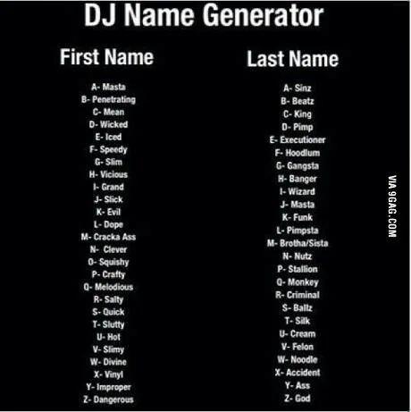 Dj Name Generator In 2021 Funny Name Generator Name Generator Names