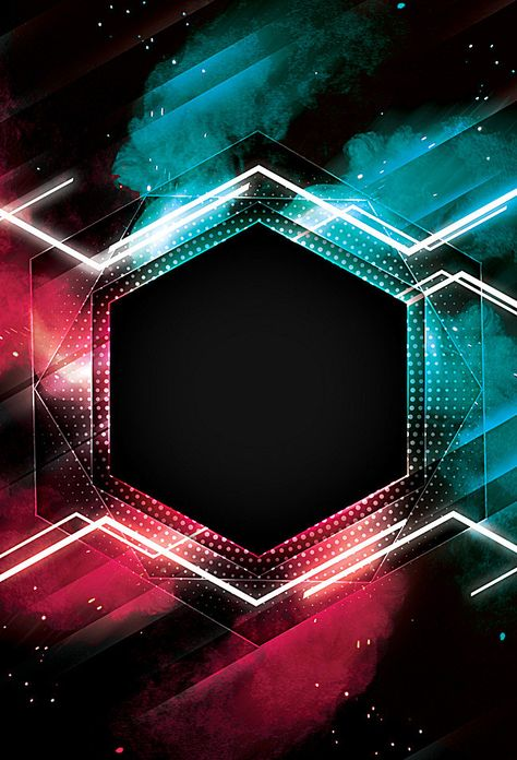 Cool Geometric Poster Background