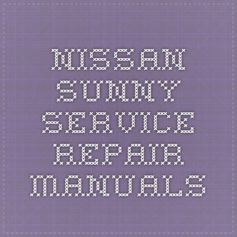 60 Nissan Service Repair Manual Pdf Ideas Repair Manuals Nissan Manual