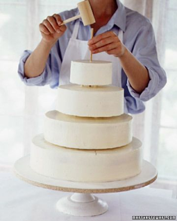 Step By Instructions How To Level Fill Ice And Stack A Cake Decorating Pinterest Martha Wedding