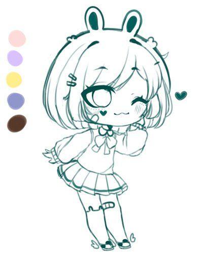Gacha Club Art Chibi Official Lunime Amino Kawaii Drawings Anime Poses Reference Anime Character Design