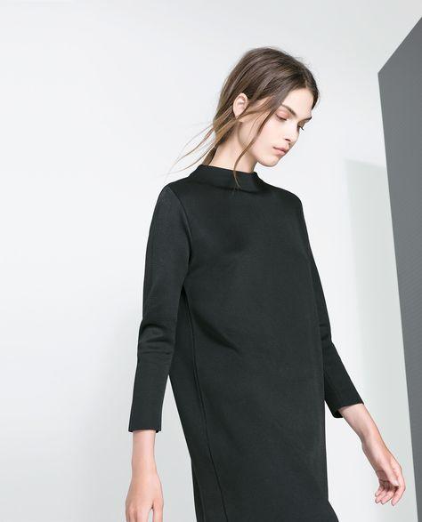 FUNNEL COLLAR DRESS - Dresses - Woman | ZARA United States