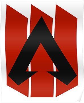 Apex Legends Three Bar Logo Apex Legends Symbol Poster By Surik In 2020 Legend Symbol Bar Logo Apex Logo