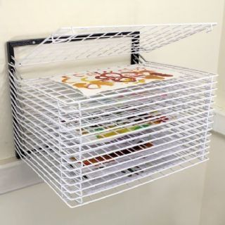 15 Shelf Wall Mounted Art Drying Rack Wall Mounted Art Drying Rack 15 Shelf Wall Mounted Painting Drying Rack School Art Equipment Messy Play Toys Messy Play Id Wall Mounted Drying Rack Classroom Wall Decor Wall
