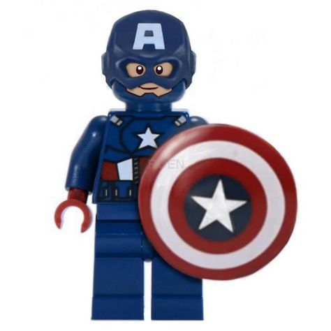 LEGO Captain America --- This my version of LEGO Avengers: Captain America. I really don't like the look of this character in version available currently on the market, so I've made a visualization of how he should look in my opinion.  Maybe in upcoming LEGO Avengers: Age of Ultron sets they'll fix him:) By now, this my project - based on Flash minifigure, and photoshopped :)