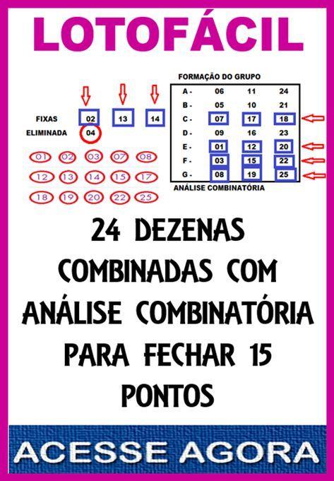 Jogar 24 Dezenas Na Lotofacil Fechando 15 Pontos Lotomania Como