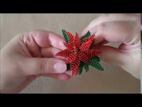 Stella Di Natale Con Perline.Diy Stella Di Natale Con Perline Perline Fiori Di