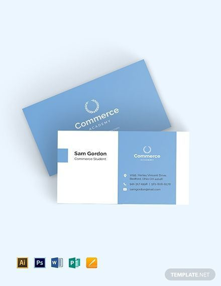 The Template Has A Simple Professional And Sophisticated Design It Is Perfect For Grad Student Business Cards Business Card Template Psd Business Card Design