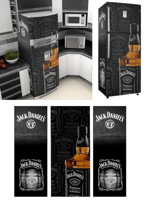 Adesivo Envelopamento De Geladeira Jd028 Jack Daniels Com Imagens