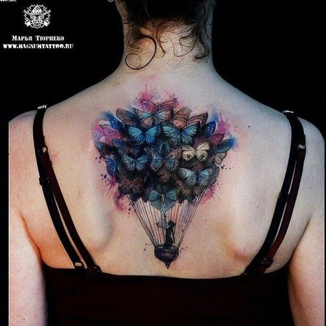 Amazing butterflies back tattoo - 100+ Amazing Butterfly Tattoo Designs