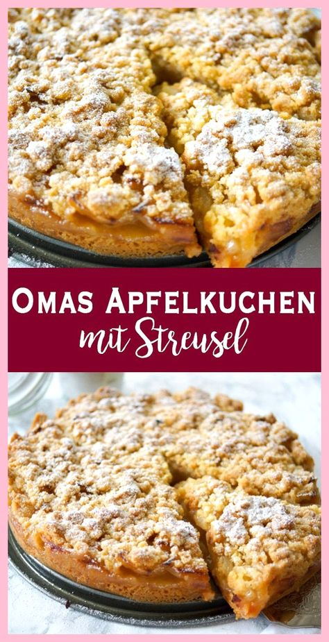 All Time Easy Cake : Grandma's apple pie with crumble (apple crumble),  #apple #crumble #grandma