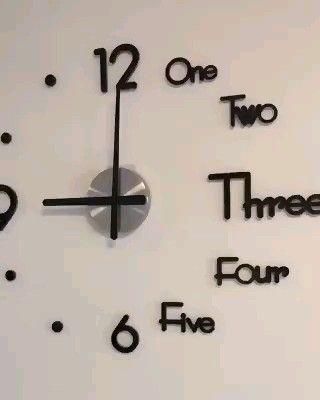 Decorative 3d Clock Decorative 3d Clock Is A Modern Designed Clock That Gives An Diy Clock Wall Clock Wall Decor Wall Clock Design