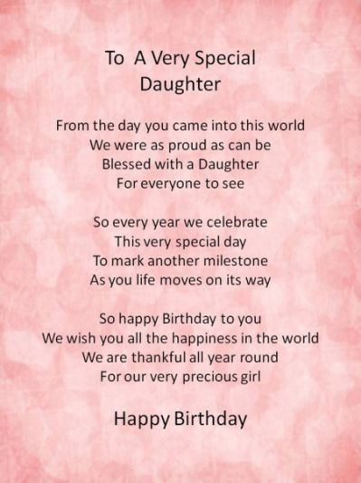 Birthday Quotes For Daughter (23 | Birthday poems for ...