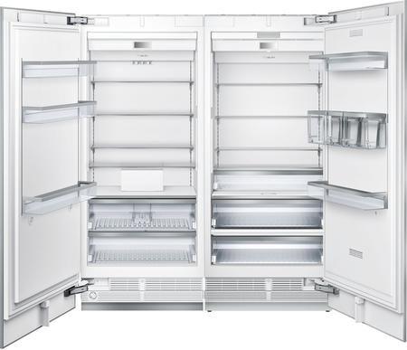 72 Side By Side Column Refrigerator Freezer Set With T36ir900sp 36 Right Hinge Refrigerator And Refrigerator Freezer Big Fridge Adjustable Shelving
