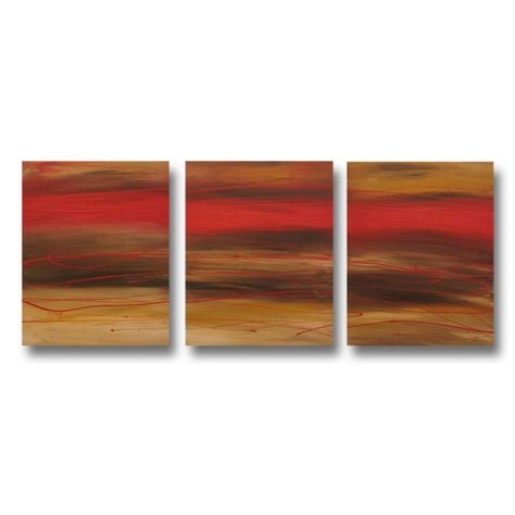 Abstract art canvas red brown Wall art paintings