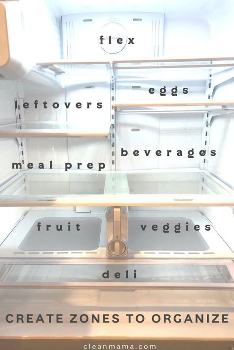 How to Clean and Organize a Refrigerator and Freezer – Clean Mama and Organization Freezer Organization, Organizing Hacks, Refrigerator Organization, Kitchen Organization Pantry, Home Organisation, Cleaning Hacks, Organize Freezer, Organization Ideas For The Home, Fridge Storage
