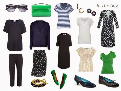 The Vivienne Files: How to Pack for Springtime in Paris: Navy and White, with Green