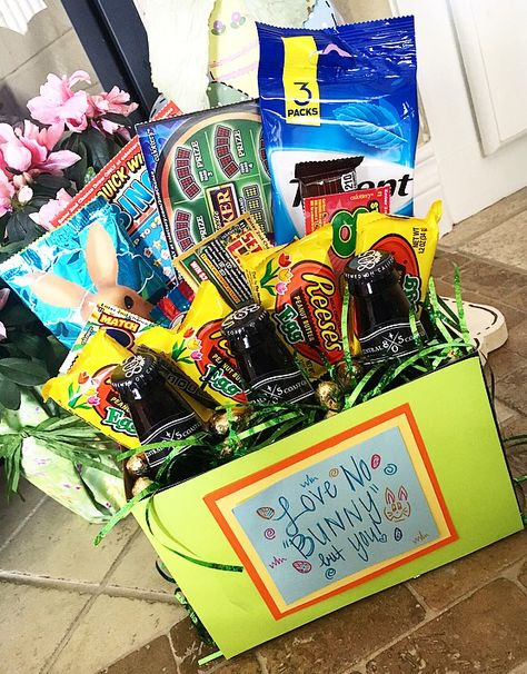 Ummm can we say best wife ever a diy easter basket for your husband ummm can we say best wife ever a diy easter basket for your husband im surprising scott with this adult easter basket on sunday cant wait to negle Images